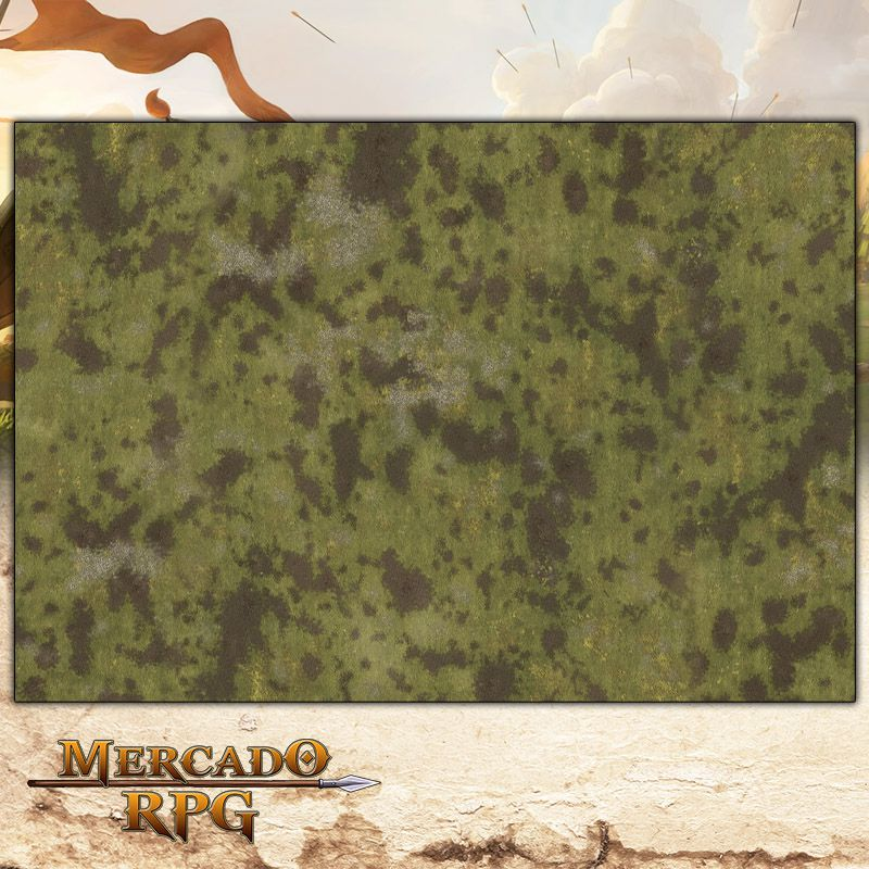 Planície A 180x120 Grid de Batalha - Battle Grid Wargame  - Mercado RPG