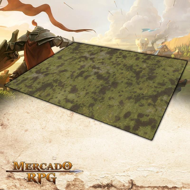 Planície A 180x120 (Com Grid) Grid de Batalha - Battle Grid Wargame