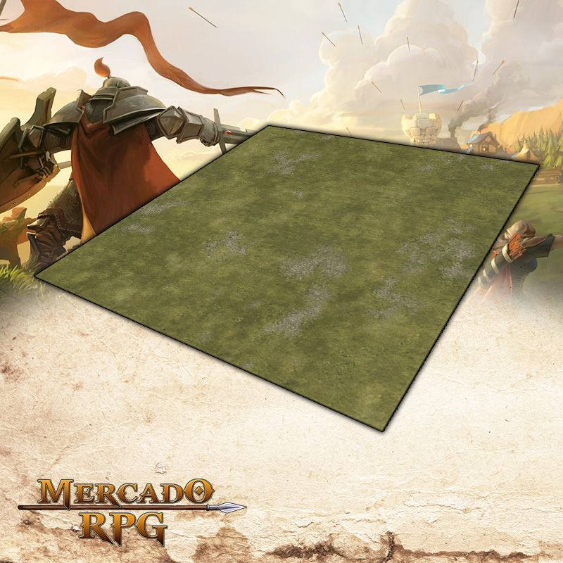 Planície B 120x120 - Battle Grid Wargame  - Mercado RPG