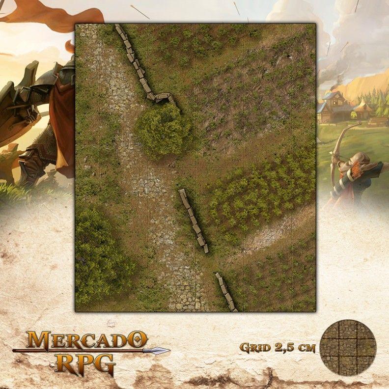 Plantação da Fazenda de Osten25x30 - RPG Battle Grid D&D  - Mercado RPG