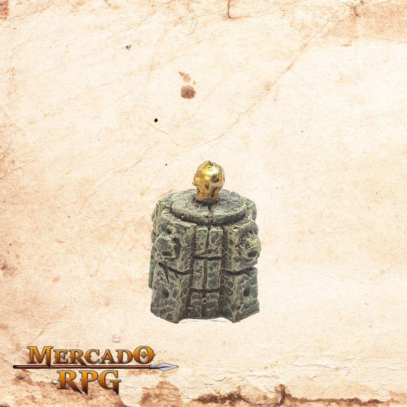 Plinto com Caveira  - Mercado RPG