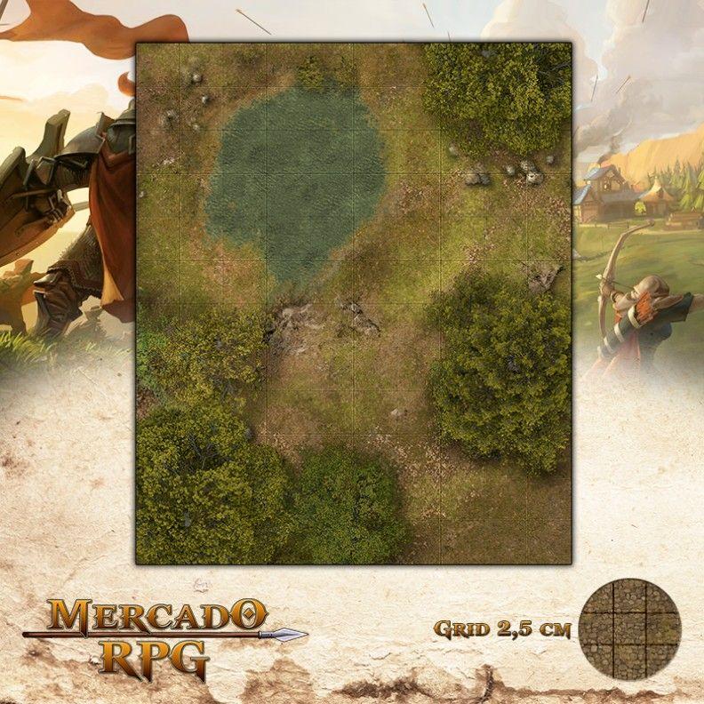 Poço da Planície25x30 Grid de Batalha - RPG Battle Grid D&D