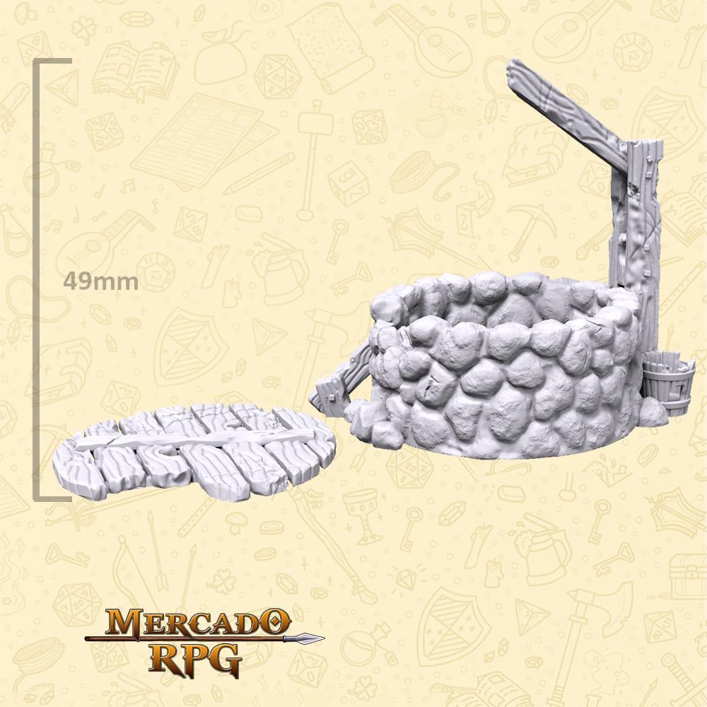 Poço do vilarejo - Miniaturas de cenários para RPG e Boardgames