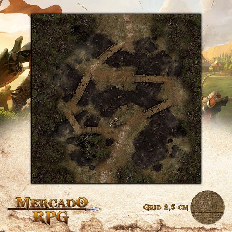 Poços Necróticos 75x75 Grid de Batalha - RPG Battle Grid D&D