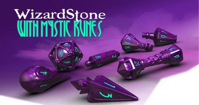 PolyHero Dice -  Wizardstone with Mystic Runes  - Mercado RPG