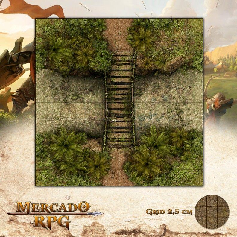 Ponte Águas Lípidas25x25 Grid de Batalha - RPG Battle Grid D&D