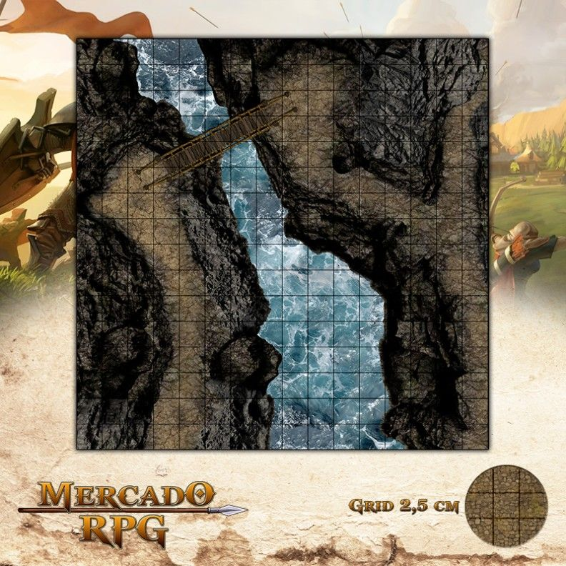 Ponte da Emboscada 40x40 - RPG Battle Grid D&D