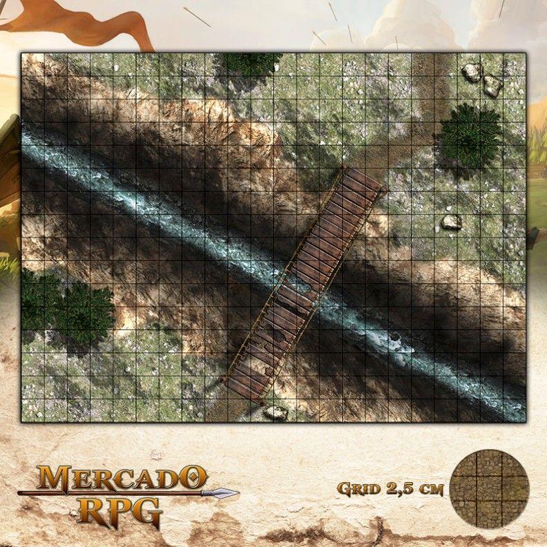 Ponte da Salvação 40x55 Grid de Batalha - RPG Battle Grid D&D