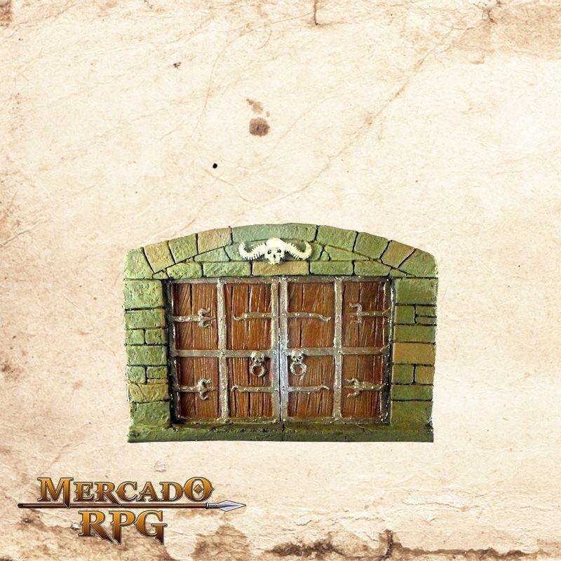 Porta Dupla de Madeira  - Mercado RPG