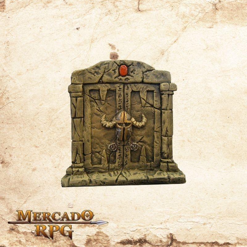 Porta dupla de pedra  - Mercado RPG