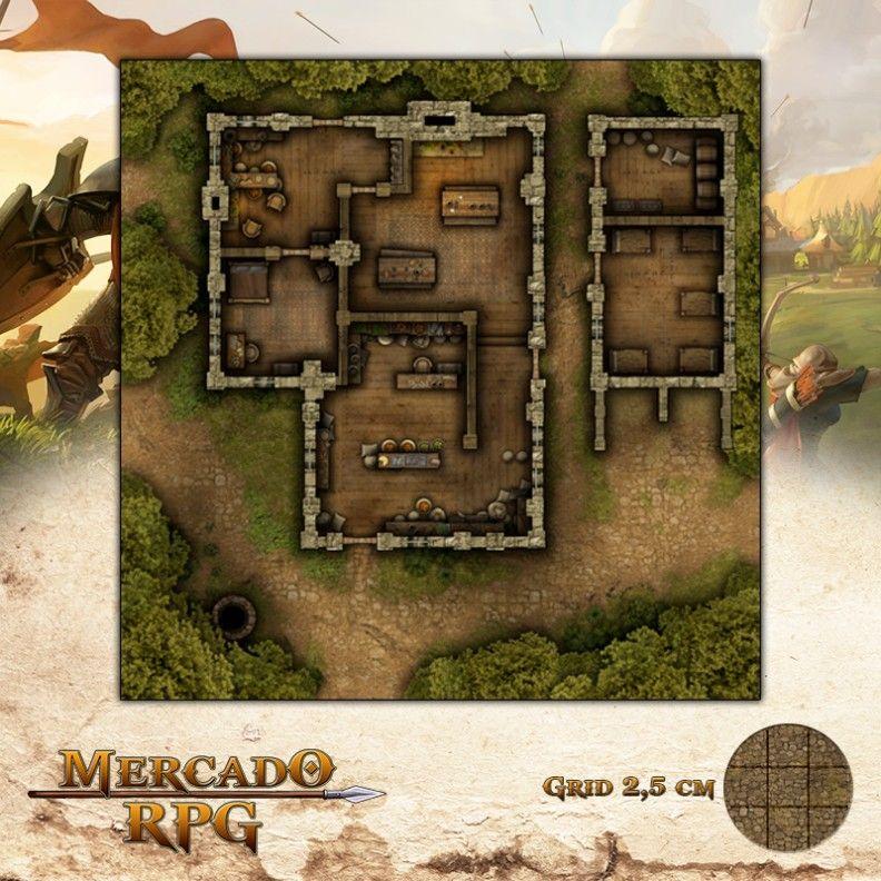 Posto Comercial 50x50 - RPG Battle Grid D&D  - Mercado RPG