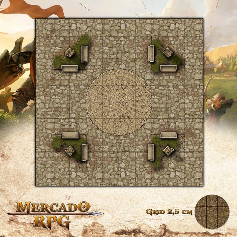 Praça da Mandala25x25 Grid de Batalha - RPG Battle Grid D&D