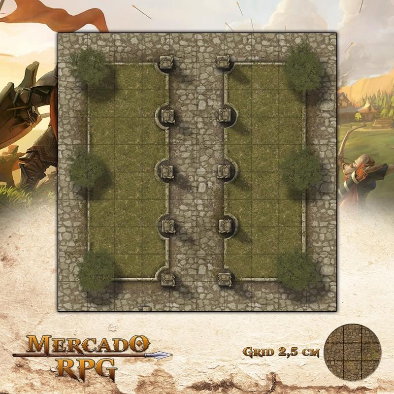 Praça dos Heróis 25x25 Grid de Batalha - RPG Battle Grid D&D