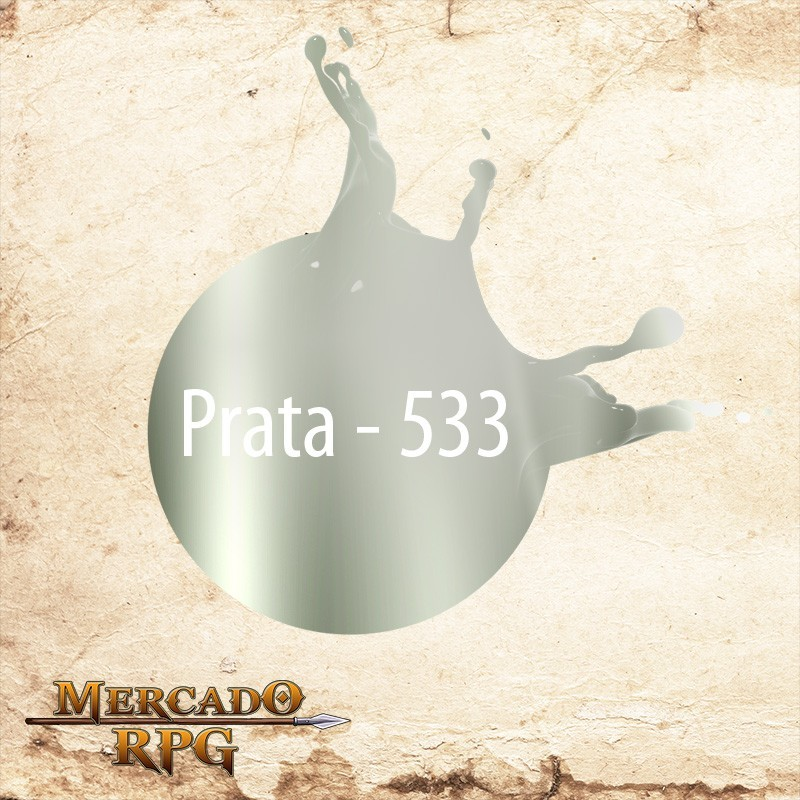 Prata 533 -Tinta Metal Colors Acrílica Metálica 60 ml - Acrilex - RPG