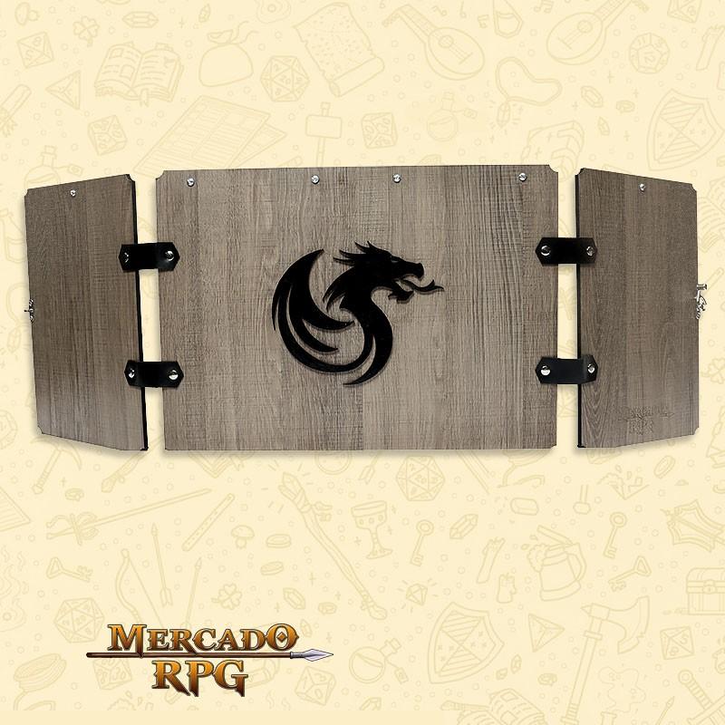PRÉ-VENDA - Escudo de Carvalho Premium - Dragon - RPG