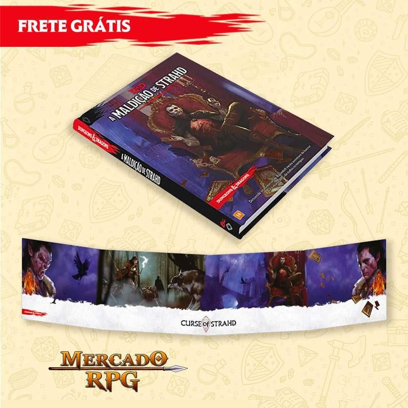 PRÉ-VENDA - KIT D&D 5e - A Maldição de Strahd + Escudo do Mestre - Edição em português