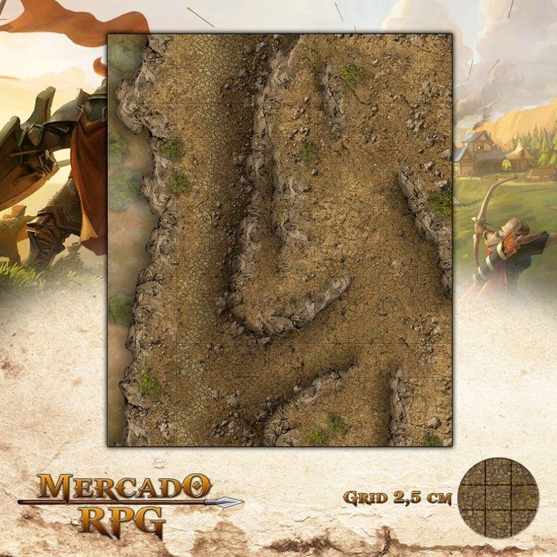 Precipício da Sombra Eterna25x30 Grid de Batalha - RPG Battle Grid D&D