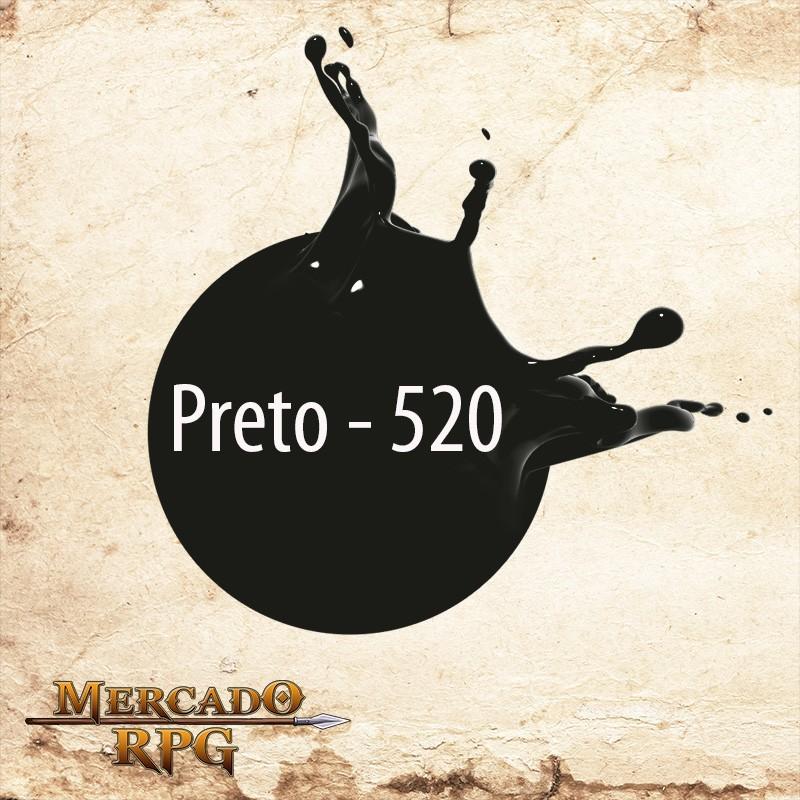 Preto 520 - Tinta Acrílica Fosca Nature Colors 60ml - Acrilex - RPG