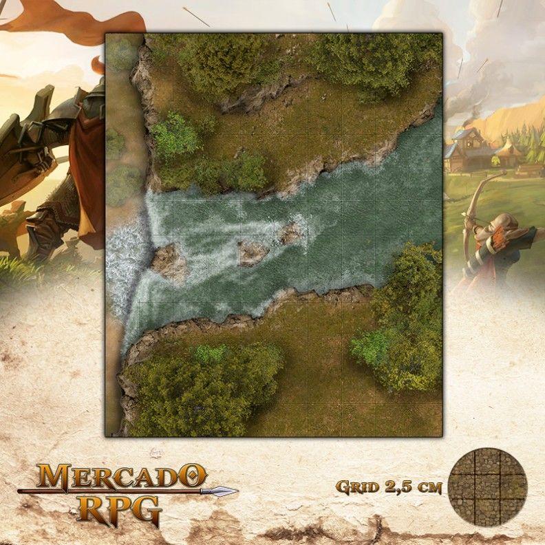 Queda Sem Fim25x30 Grid de Batalha - RPG Battle Grid D&D
