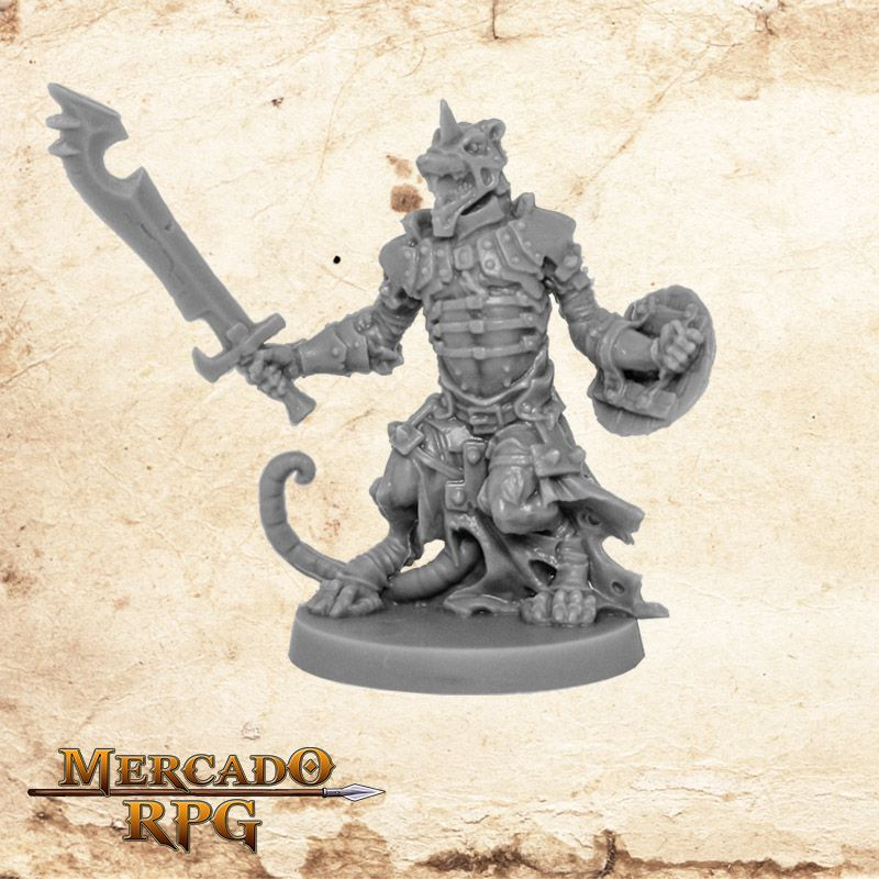 Ratling Warrior - Miniatura RPG  - Mercado RPG