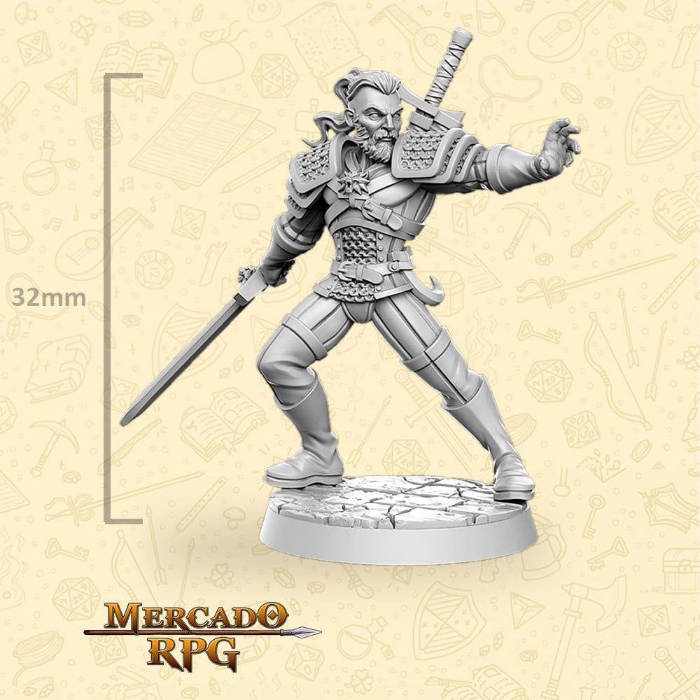 Geralt de Rivia - The Witcher - Miniatura - RPG