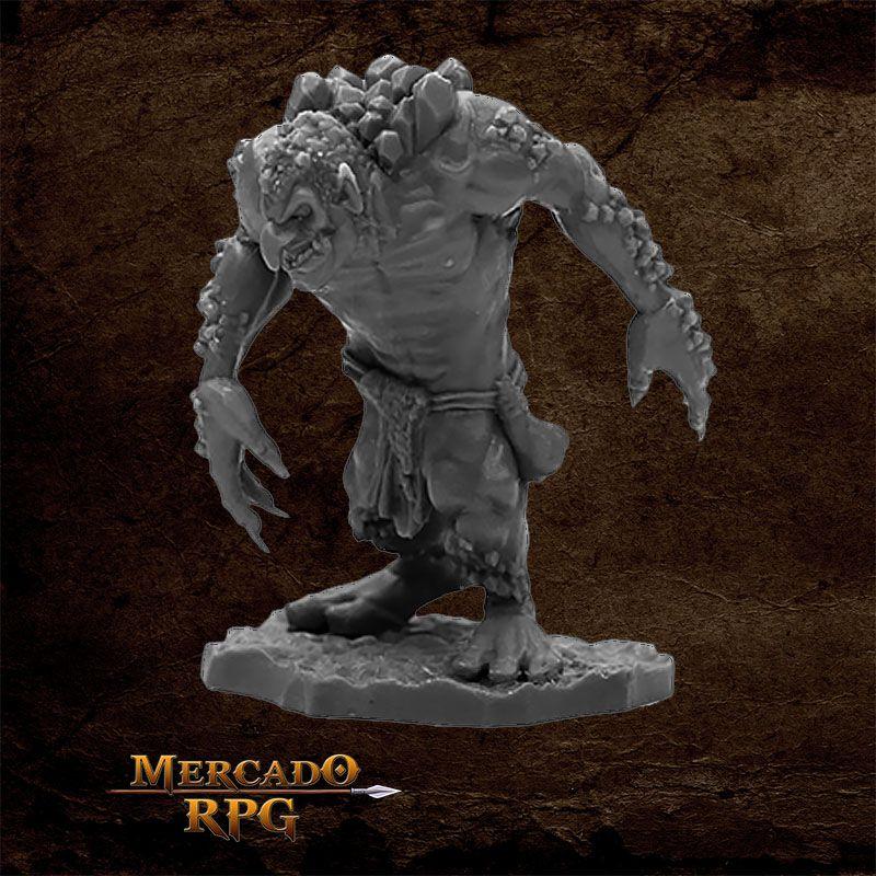 Reaper Bones Black: Rock Troll  - Miniatura RPG  - Mercado RPG