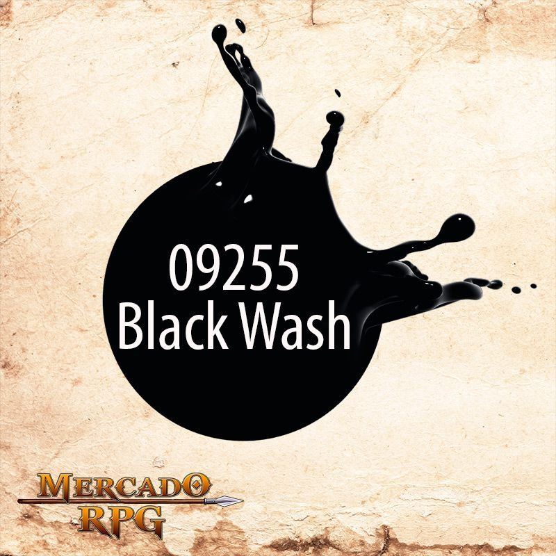 Reaper MSP Black Wash 9255  - Mercado RPG