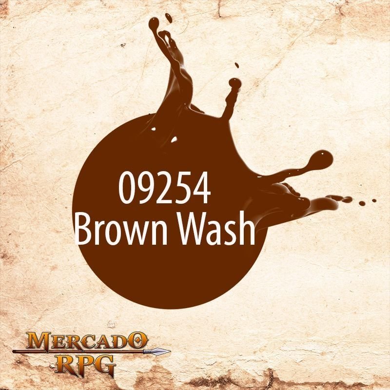 Reaper  MSP Brown Wash 9254  - Mercado RPG