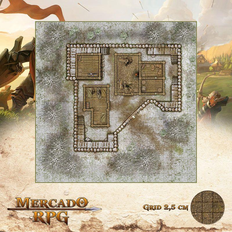 Refúgio dos Bandidos - Inverno 50x50 - RPG Battle Grid D&D