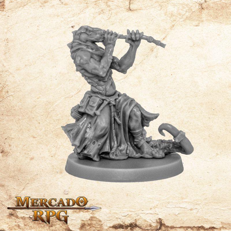 Reltissaurian Blowgunner - Miniatura RPG  - Mercado RPG