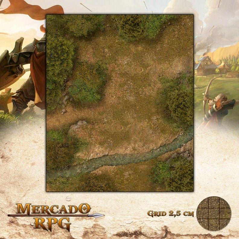 Riacho25x30 Grid de Batalha - RPG Battle Grid D&D