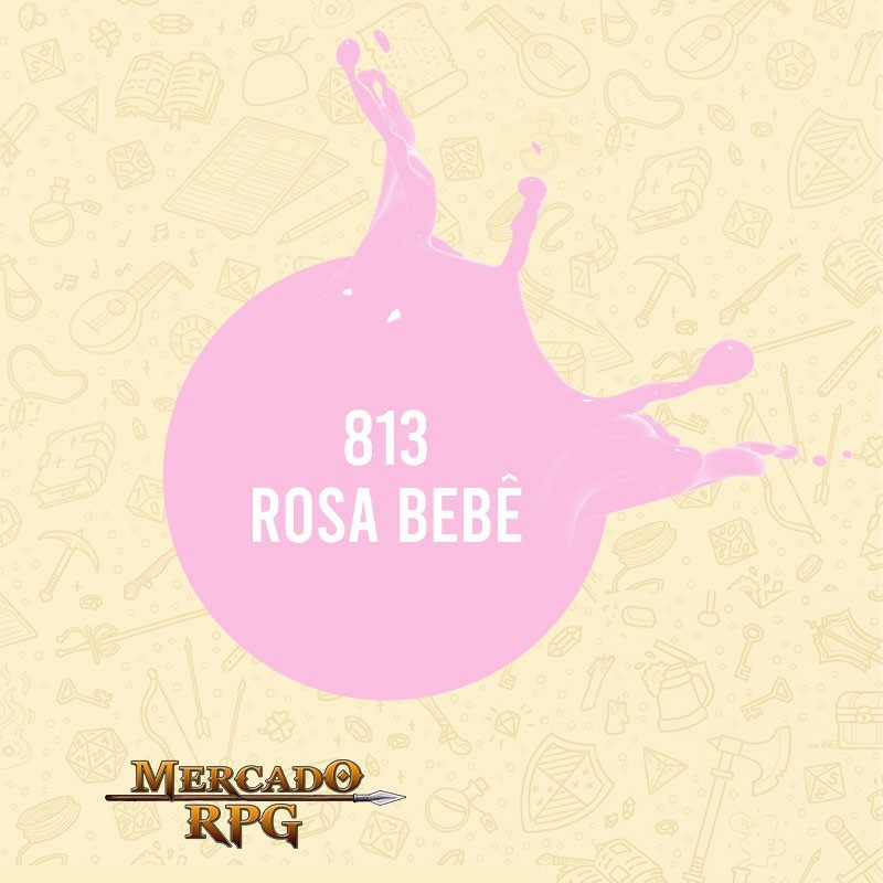 Rosa Bebê - 813 - Tinta Acrílica Fosca Nature Colors 60ml - Acrilex - RPG