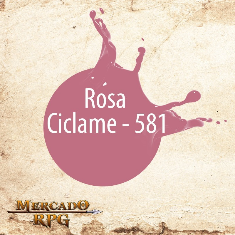 Rosa Ciclame 581 - Tinta Acrílica Fosca Nature Colors 60ml - Acrilex - RPG