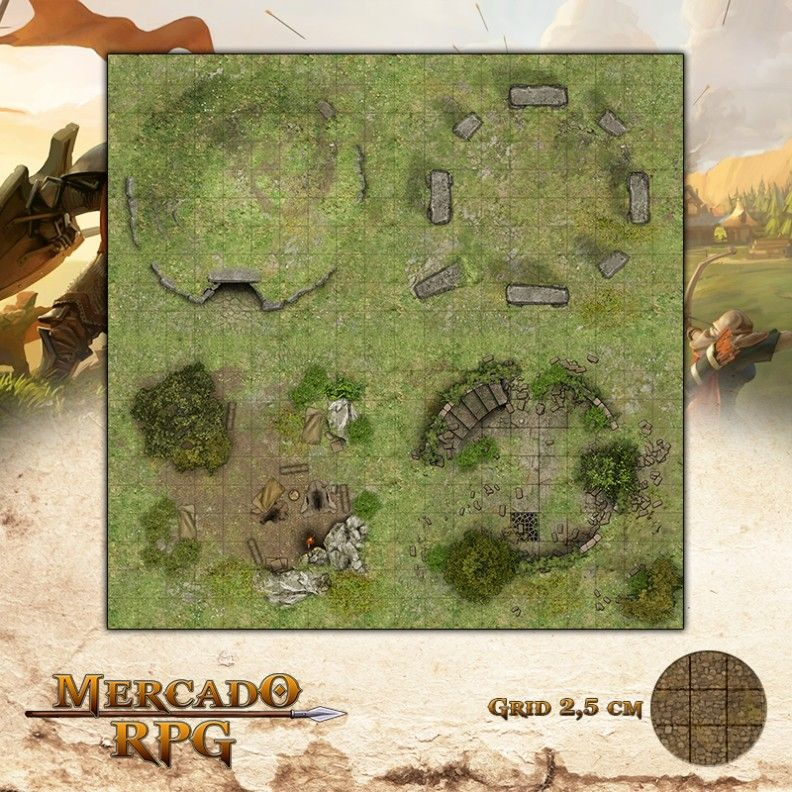 Ruínas 50x50 - RPG Battle Grid D&D