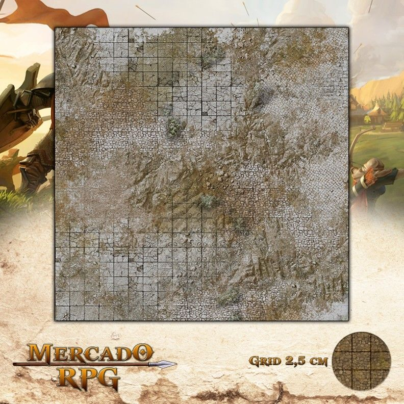 Ruínas da Tundra Gelada 50x50 - RPG Battle Grid D&D - Mercado RPG