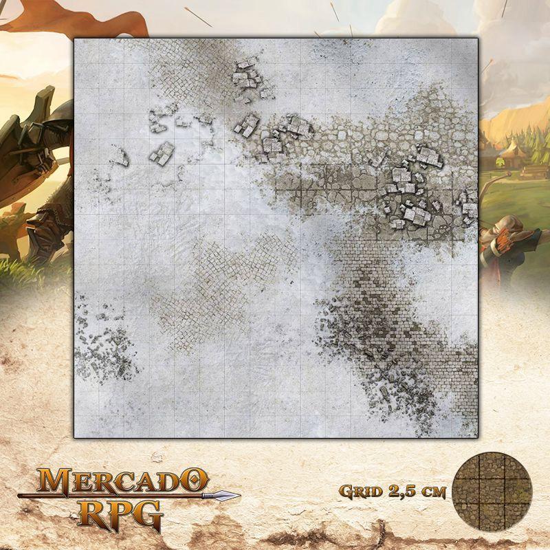 Ruinas Nevadas 40x40 Grid de Batalha - RPG Battle Grid D&D