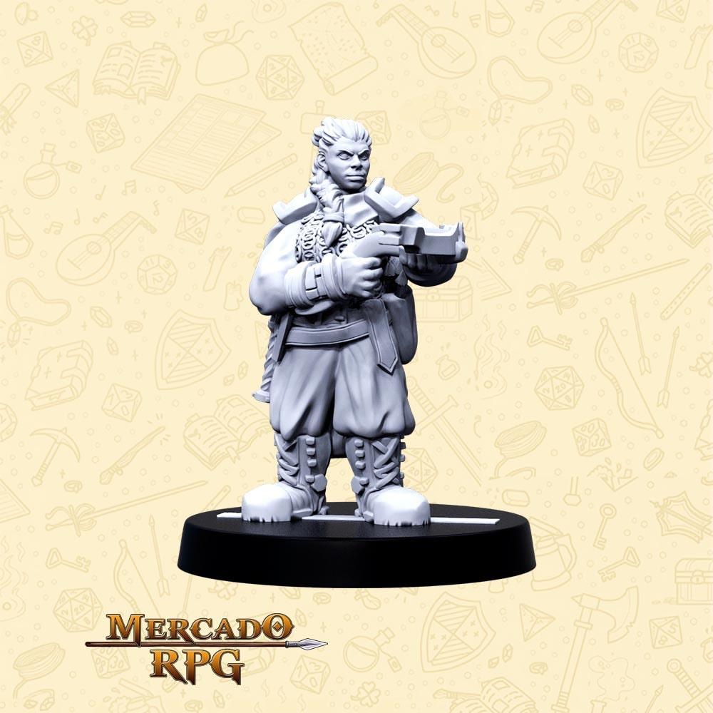 Rumna Tiro Certeiro - Basilisco Miniaturas - Resina - Miniaturas para RPG