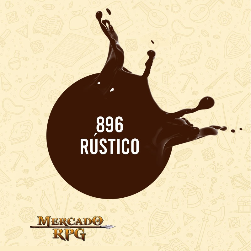 Rústico - 896 - Tinta Acrílica Fosca Nature Colors 60ml - Acrilex - RPG