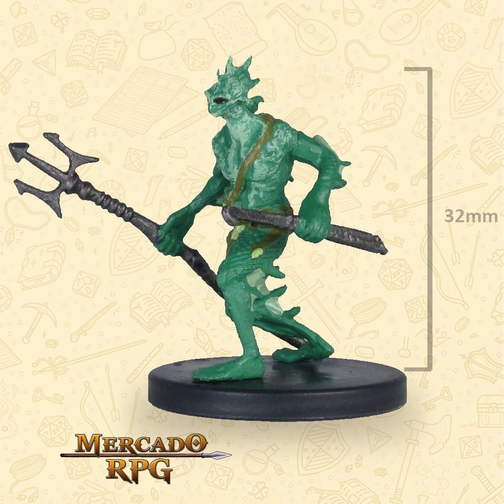 Sahuagin - Icons of the Realms Classic Creatures - Miniatura D&D - RPG