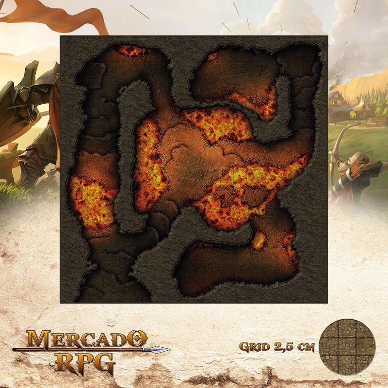 Salões Fumegantes 50x50 Grid de Batalha - RPG Battle Grid D&D