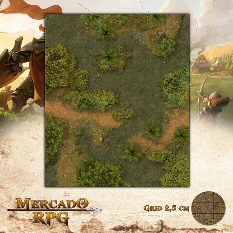 Selva Alagada 25x30 - RPG Battle Grid D&D