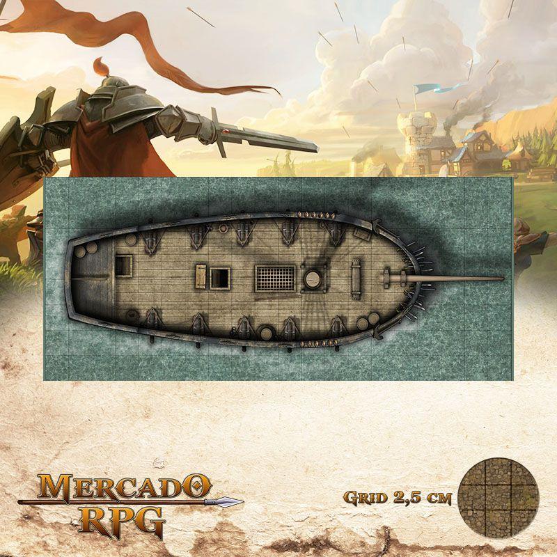Senhora da Maré Profunda Externa 20x50 Grid de Batalha - RPG Battle Grid D&D