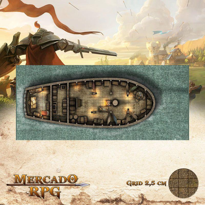 Senhora da Maré Profunda Interno 20x50 Grid de Batalha - RPG Battle Grid D&D