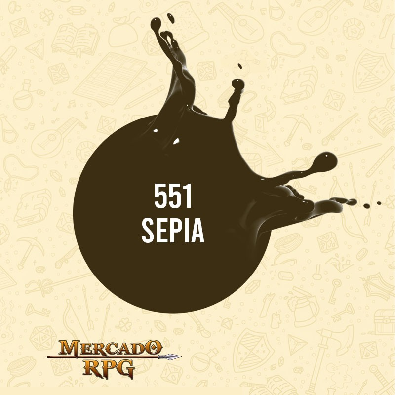 Sepia - 551 - Tinta Acrílica Fosca Nature Colors 60ml - Acrilex - RPG