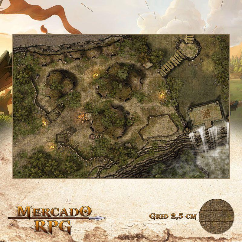 Sepulcro da Corredeira Infindável 50x75 - RPG Battle Grid D&D
