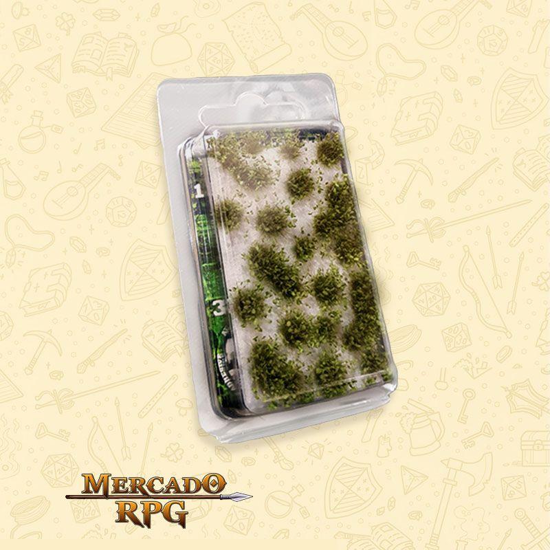 Shrubs TUFTS - 6mm self-adhesive - DARK GREEN - RPG