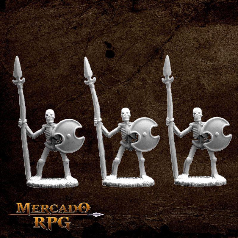Skeletal Spearmen (3)  - Mercado RPG
