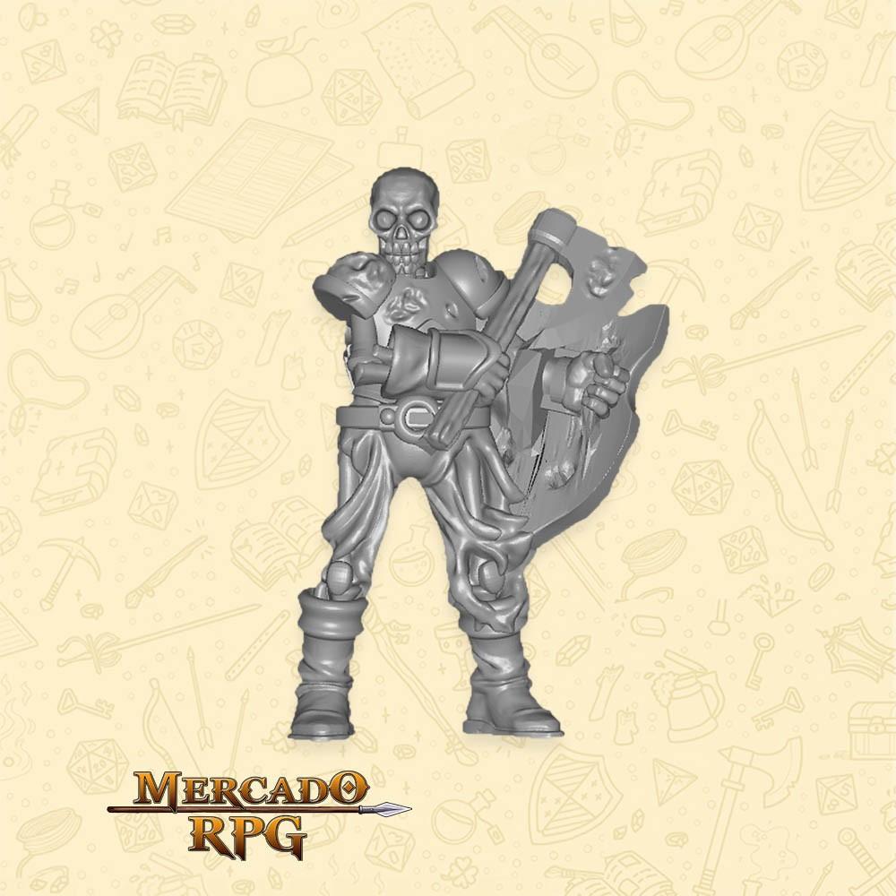 Skeleton Fighter - Miniatura - RPG