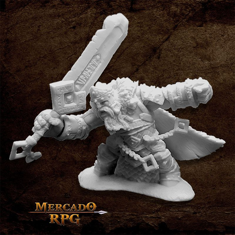 Skorg Ironskull, Fire Giant King - Miniatura RPG