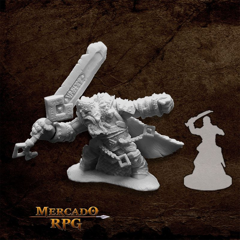 Skorg Ironskull, Fire Giant King - Miniatura RPG  - Mercado RPG